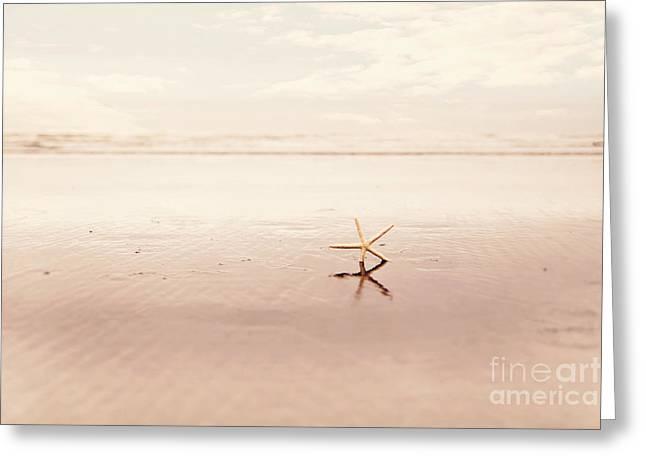 Dancing Starfish Beach Photograph Greeting Card by Sylvia Cook