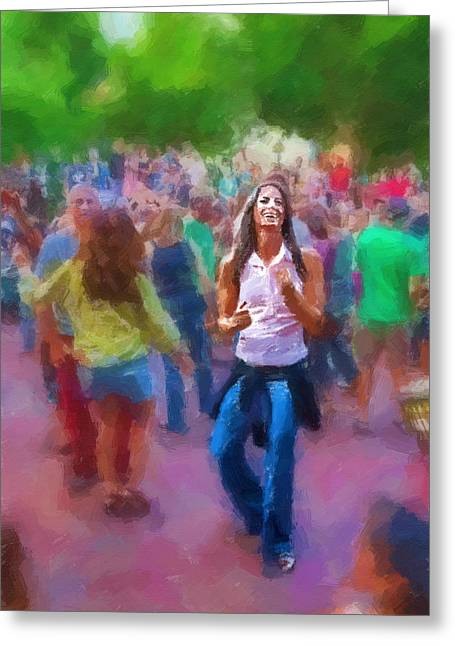 Dancing To The Drums Greeting Card