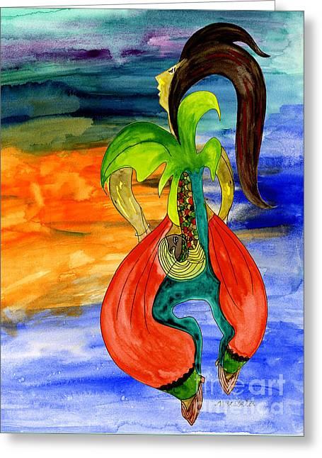 Dancing Tree Of Life Greeting Card by Mukta Gupta