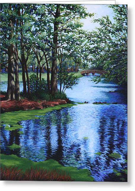 Dancing Waters Greeting Card by Penny Birch-Williams