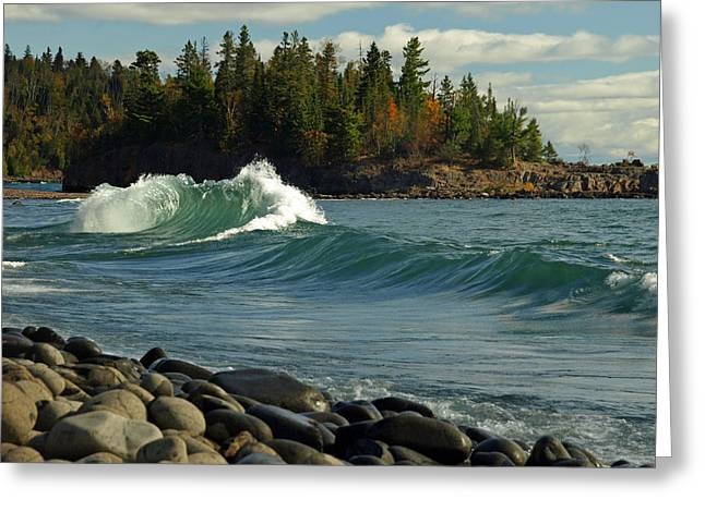 Greeting Card featuring the photograph Dancing Waves by James Peterson