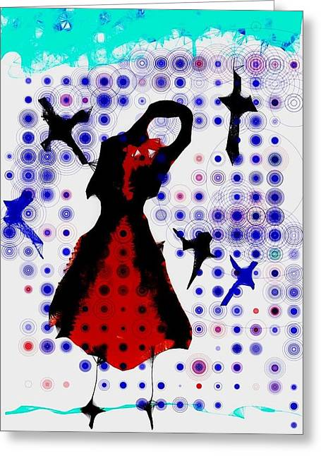 Greeting Card featuring the photograph Dancing With The Birds by Jessica Shelton