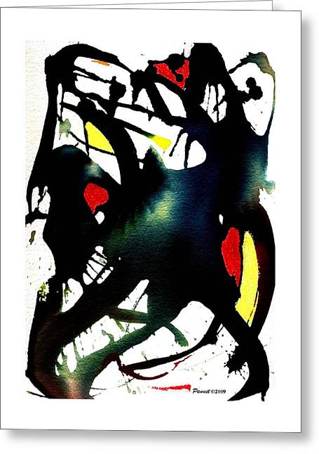 Dancing With The Shadow Greeting Card