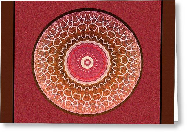 Dancing Women Mandala  Greeting Card by Kandy Hurley