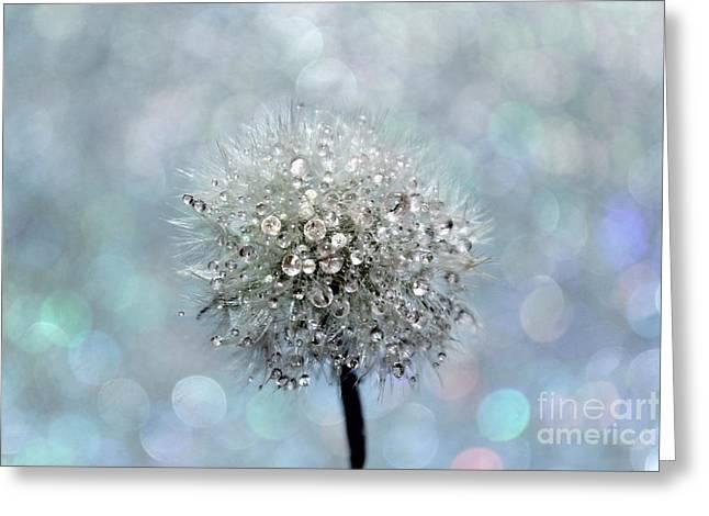 Dandelion Diamonds Greeting Card by Krissy Katsimbras
