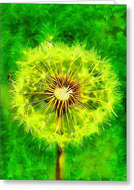 Dandelion Greeting Card by George Rossidis