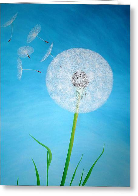 Dandelion In The Summer Greeting Card