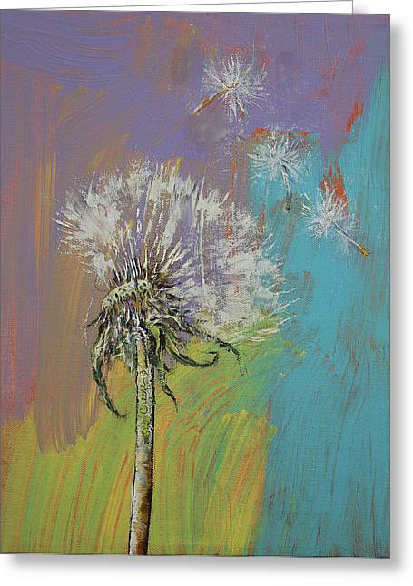 Dandelion Greeting Card by Michael Creese