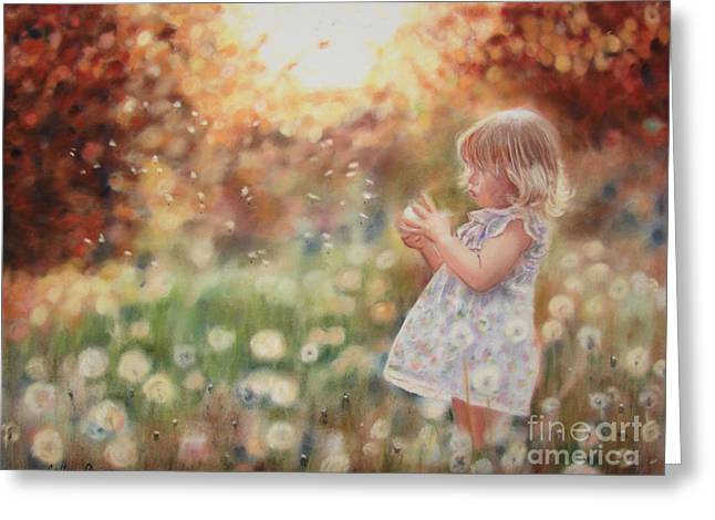 Dandelions Greeting Card by Colleen Quinn