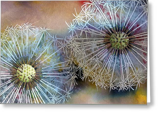 Dandelions Greeting Card by John Christopher Bradley