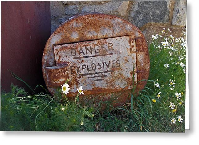 Danger Explosives Greeting Card