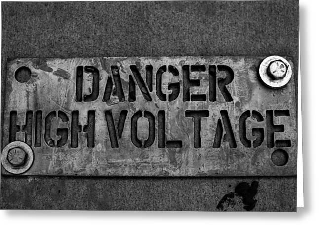 Danger High Voltage Greeting Card