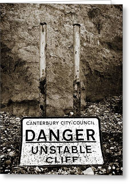 Danger Greeting Card by Mark Rogan