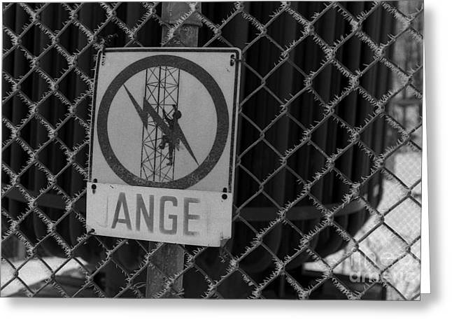 Danger Or Angel Greeting Card by Andre Paquin
