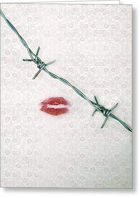Dangerous Kisses Greeting Card