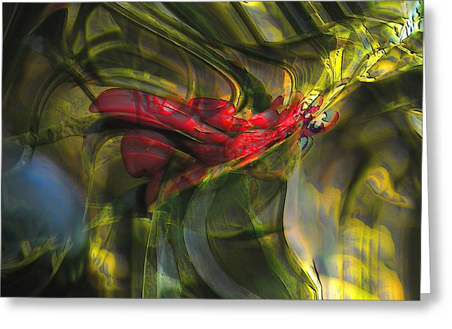 Greeting Card featuring the digital art Dangerous by Richard Thomas