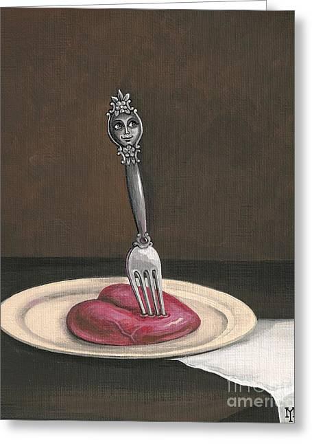 Dangerous Taste Greeting Card by Margaryta Yermolayeva