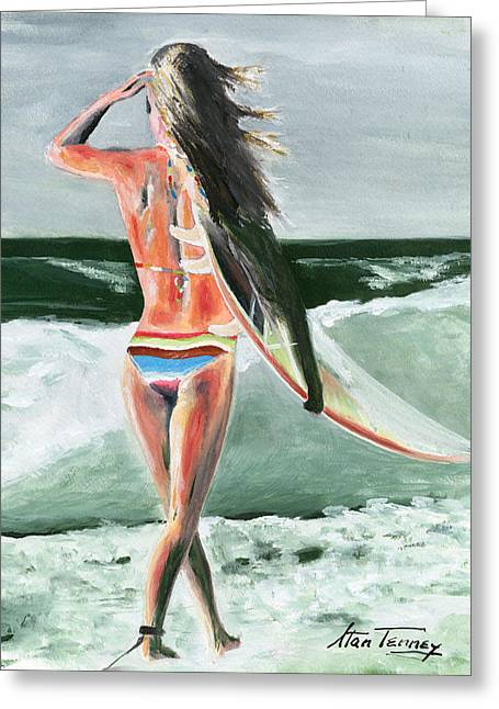 Greeting Card featuring the painting Dani by Stan Tenney