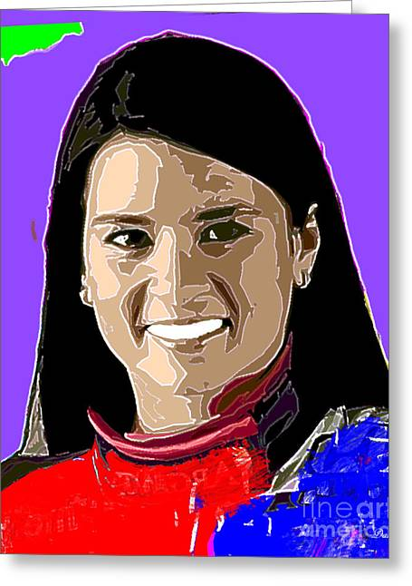 Danica Patrick Greeting Card by Dalon Ryan