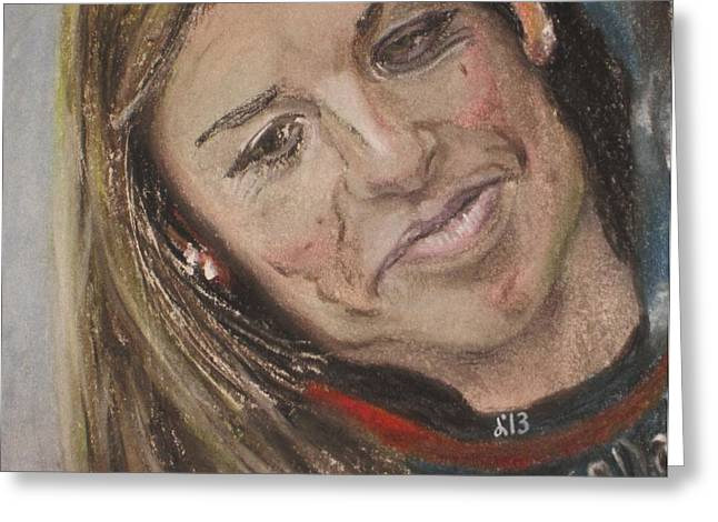 Danica Patrick Greeting Card by John Brewer