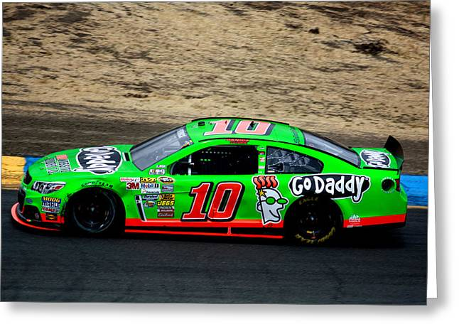 Danica Patrick Greeting Card by Karen M Scovill