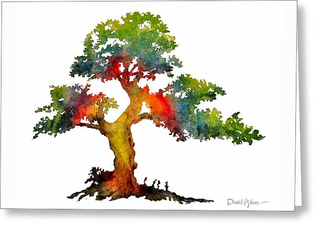 Da140 Rainbow Tree Daniel Adams Greeting Card
