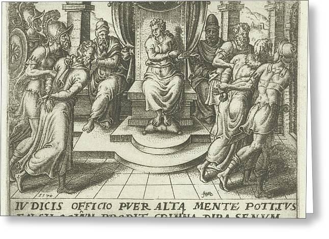 Daniel Condemns The Elders, Abraham De Bruyn Greeting Card by Abraham De Bruyn