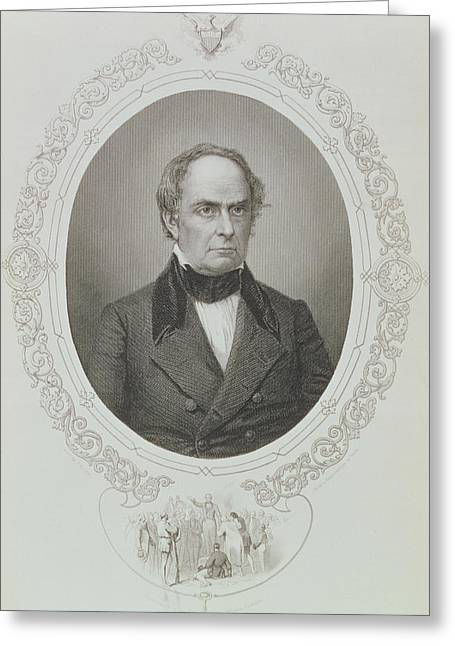 Daniel Webster, From The History Of The United States, Vol. II, By Charles Mackay, Engraved By T Greeting Card by Mathew Brady