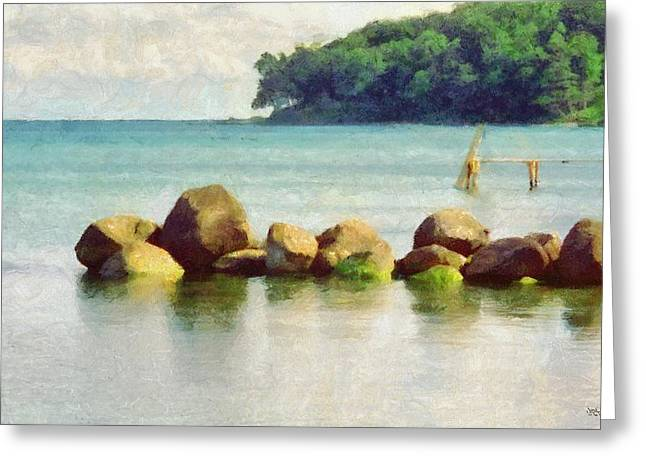 Danish Coast On The Rocks Greeting Card by Jeffrey Kolker