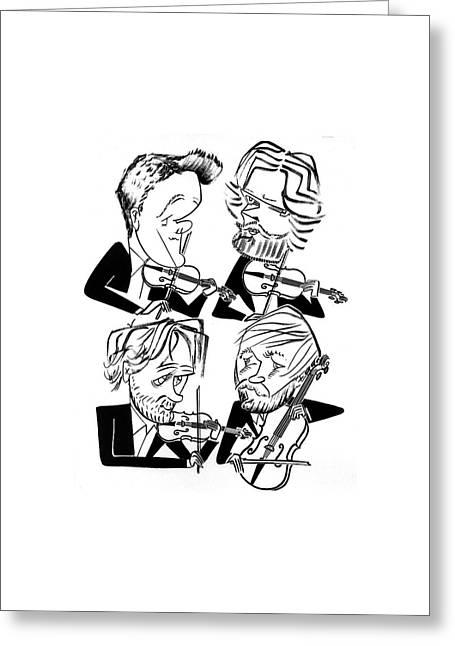 Danish String Quartet Greeting Card by Tom Bachtell