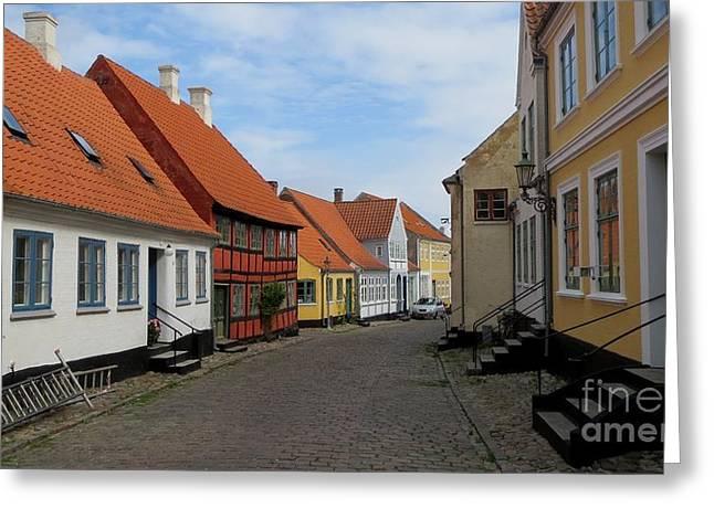 Danish Village Greeting Card by Susanne Baumann
