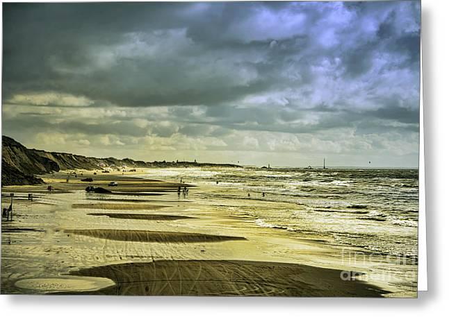 Danish West Coast Beach Greeting Card