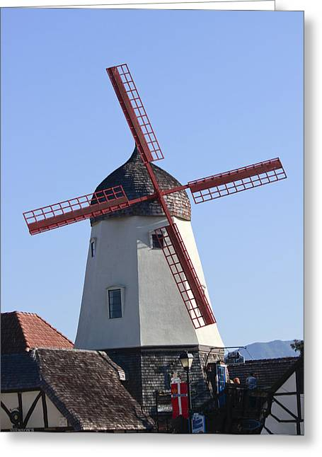 Danish Windmill Greeting Card by Ivete Basso Photography