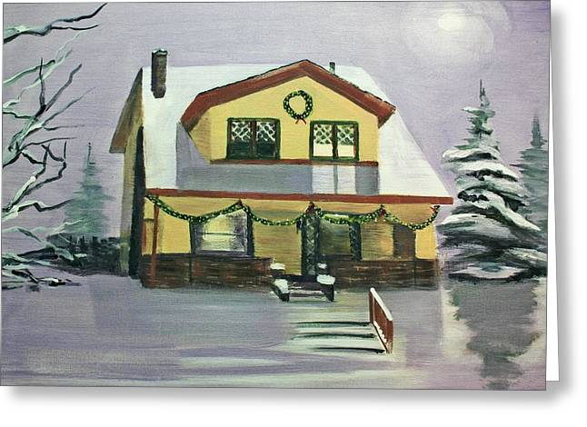 Dan's House Greeting Card by Randy Bell