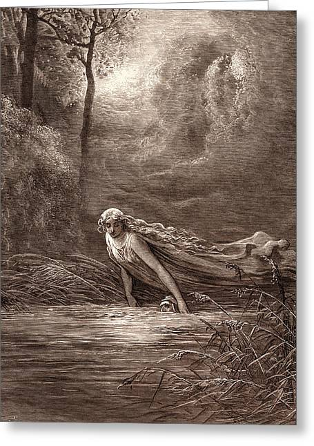 Dante And The River Of Lethe Greeting Card