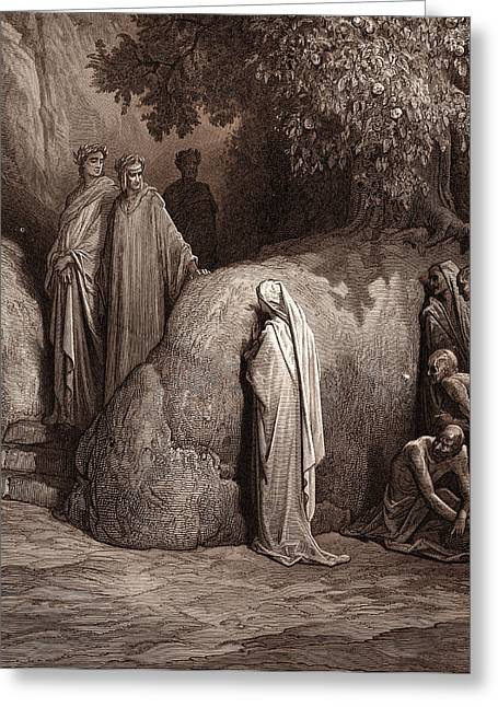 Dante And The Spirit Of Forese Greeting Card