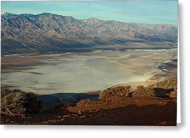 Dante's View Panorama Greeting Card by David Salter