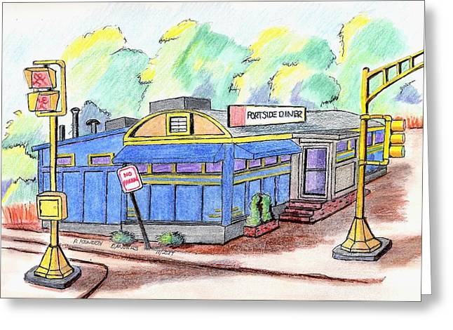 Danvers Port Diner Greeting Card