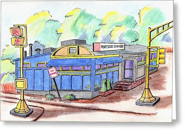 Danvers Port Diner Greeting Card by Paul Meinerth