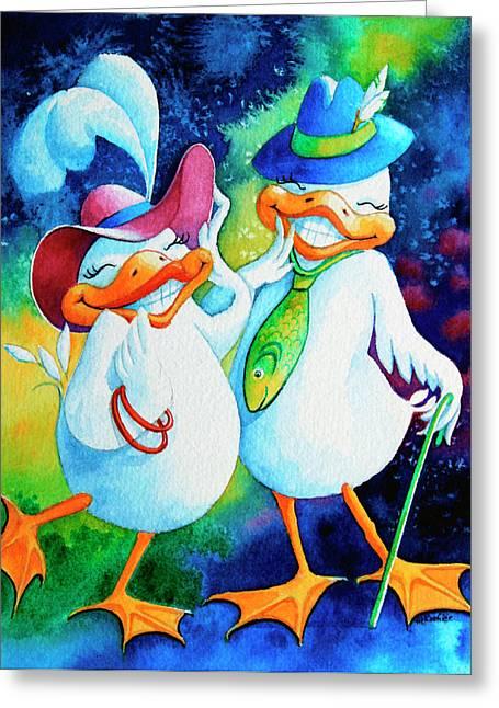 Dapper Duckies Greeting Card by Hanne Lore Koehler
