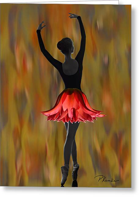 Dappled Flame Greeting Card