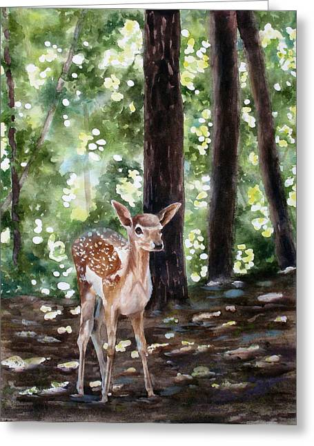 Dappled Innocence Greeting Card by Mary McCullah
