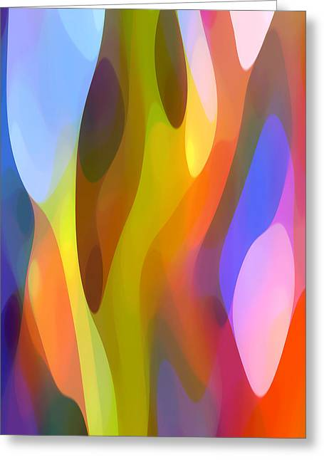 Dappled Light 3 Greeting Card by Amy Vangsgard