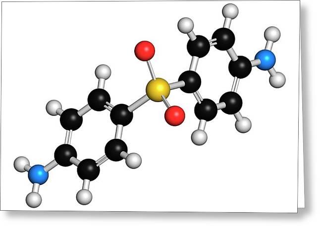 Dapsone Antibacterial Drug Molecule Greeting Card