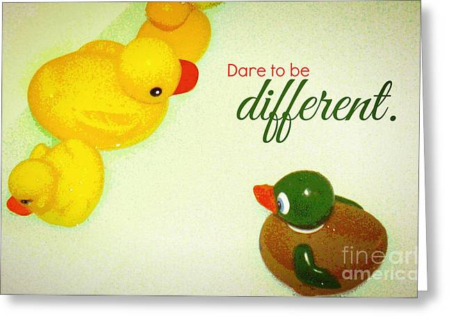 Greeting Card featuring the digital art Dare To Be Different by Valerie Reeves