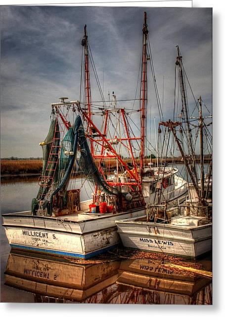 Darien Boats Greeting Card