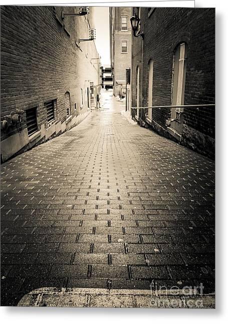 Dark Alley Greeting Card by Edward Fielding