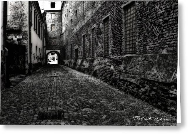 Dark Alley Greeting Card by Robert Culver