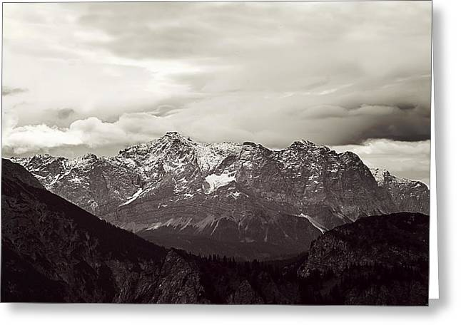 Dark Alps Greeting Card by Ryan Wyckoff