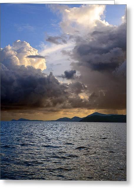 Dark And Stormy Greeting Card by    Michael Glenn
